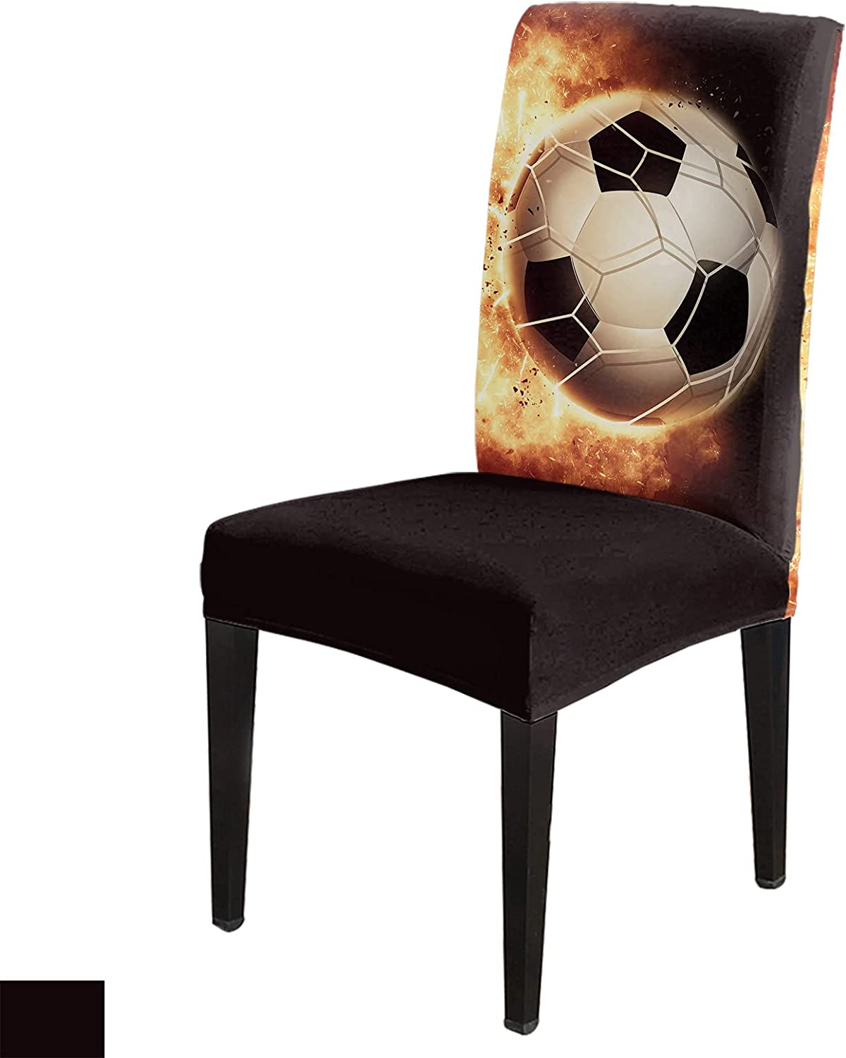 Football Arlington Mall with Fire Flames Dining Chair Se Room Slipcovers Max 63% OFF Covers