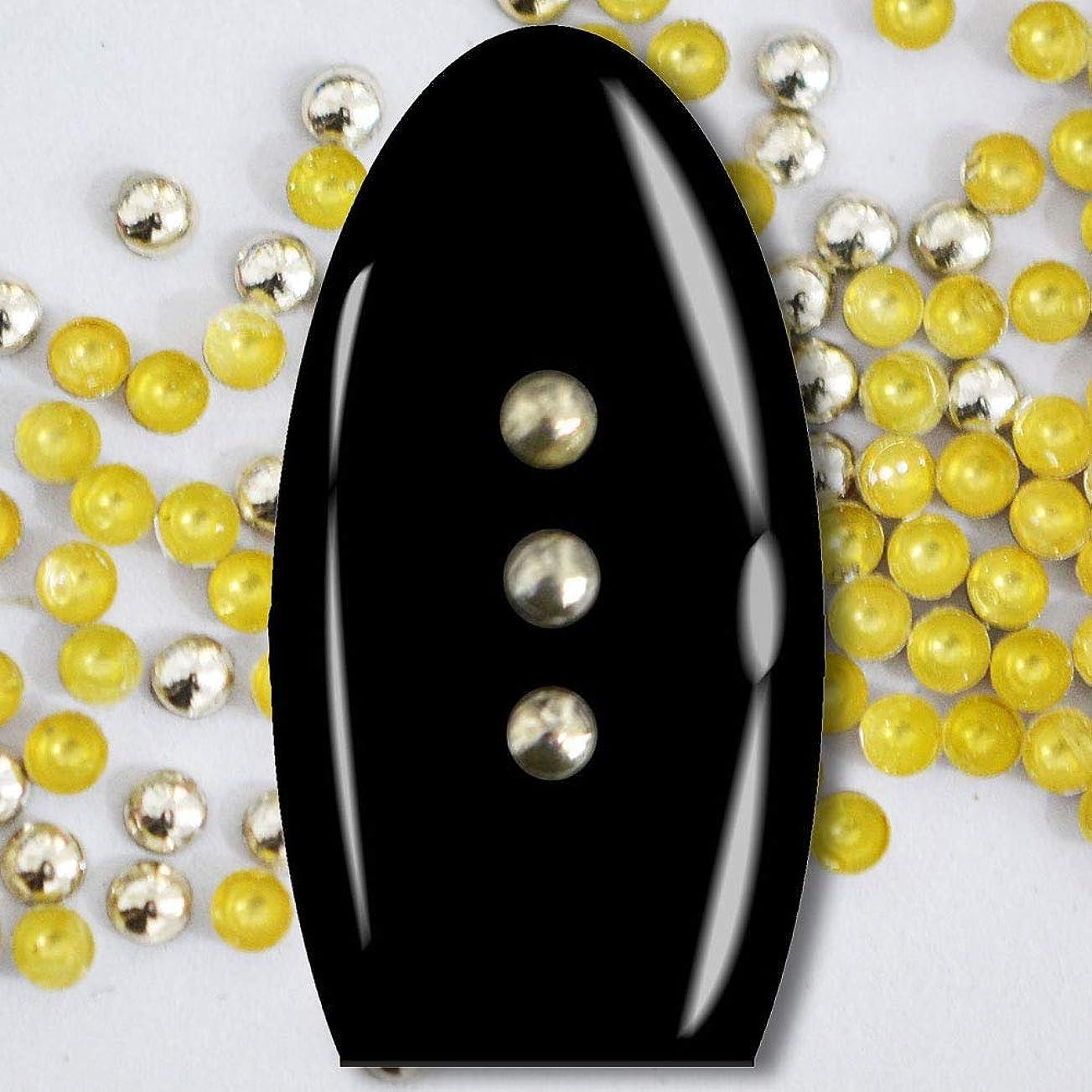 ジーンズ語鍔メタルスタッズ ネイル用 100粒 STZ020 ラウンド ライトゴールド Φ2mm ぷっくり半球型