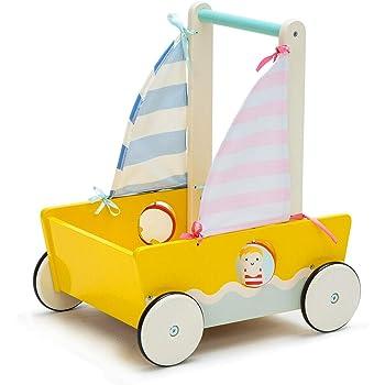 HAPE E0379 Red V1 Camper Van Walker Push Along Wood Toy Baby Toddler 10 Months+