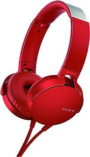 Sony MDR-XB550AP - Audífonos de diadema EXTRA BASS con micrófono para llamadas con manos libres , Rojo