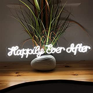 Brochao USB Interface Happy Ever After Neon Sign Led Light, Cool Gift for Girlfriend, Friend, Neon Light for Room Décor, B...