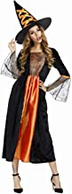 jutrisujo Witch Costume for Women Witch Dress Halloween Costumes Party