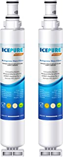 ICEPURE 4396701 Replacement Refrigerator Water Filter, Compatible with Whirlpool 4396701, 4396702, EDR6D1, Filter 6, L200V, Kenmore 9915, 46-9915 [2 PACK]