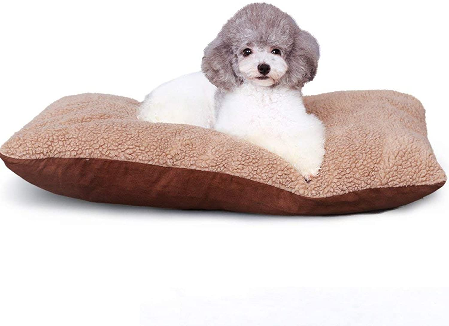 Gperw Soft cats dogs cushions pet bed cozy dog bed Non Slip Cushion Pad (Size   M)