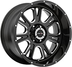 Vision Fury 18 Black Wheel / Rim 6x135 with a 25mm Offset and a 87.1 Hub Bore. Partnumber 399-8836MS25
