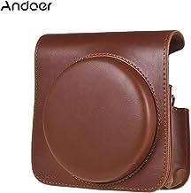 حقيبة واقية من الجلد الصناعي مع حزام قابل للتعديل لكاميرا فوجي فيلم Instax Square SQ6 من Honorall LMZHONORALLD6193BRSA