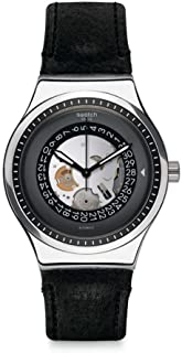 Swatch Men's Analogue Automatic Watch with Leather Strap YIS414