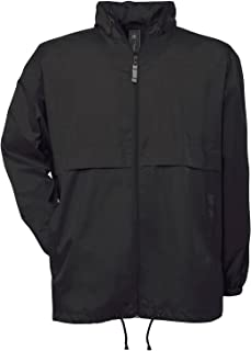 B&C Collection Air Mens Lined Windbreaker Foldaway Zip Jacket