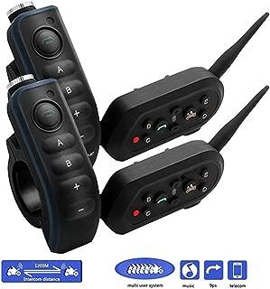 EJEAS/® E6 PLUS BT casco Interfono per Moto con Telecomando Seperated Microfono Auricolare VOX 1200m 6 Piloti