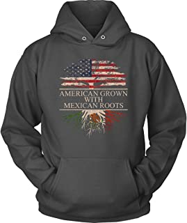THE ROOTS OF LIFE HOODIES American Grown With Mexican Roots Hoodie