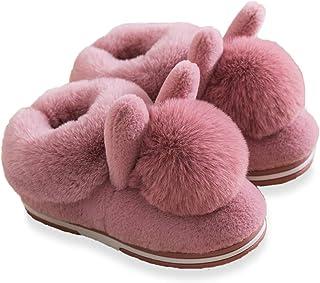 Zapatillas de Estar por Casa niña, Mujer Pantuflas de algodón con Memoria,Ultraligero Antideslizante Pantuflas de casa par...