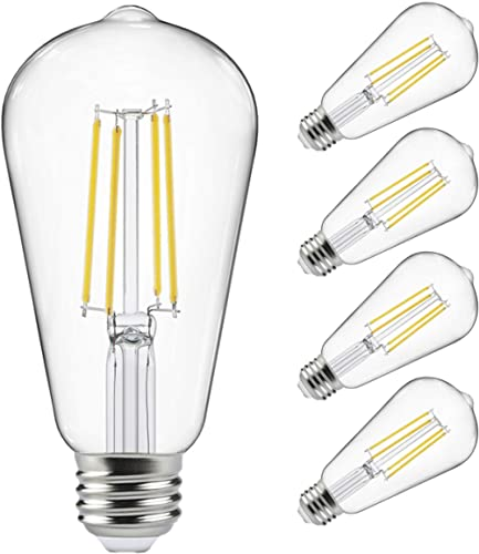 Vintage LED Edison Bulbs 60 Watt Equivalent, Eye Protection Led Bulb with 95+ CRI , Non-Dimmable, High Brightness Day...