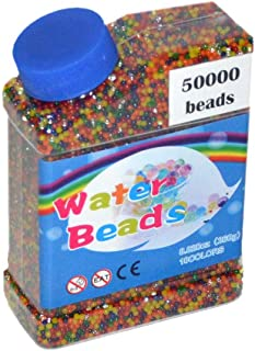 MINLIN 50000pcs/bag Home Decor Pearl Shaped Crystal Soil Water Beads Bio Gel Ball for Flower/Weeding Mud Grow Magic Jelly ...