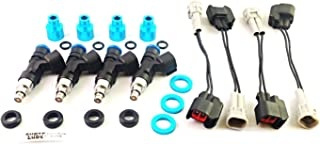 Flow Force FF640 - Set of 4 Flow Matched 640cc EV14 Bosch Injectors with PNP Kit for Mazda Miata