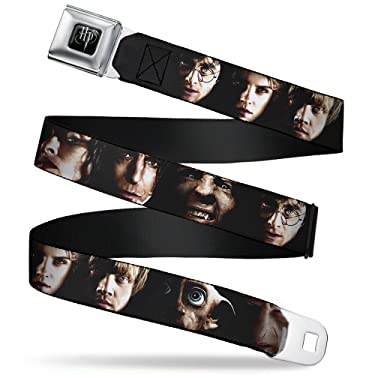 """Buckle-Down Seatbelt Belt - Harry Potter 8-Character Faces C/U - 1.0"""" Wide - 20-36 Inches in Length"""