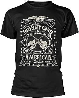 Unisex-Adult's Official American Rebel T Shirt (Black)