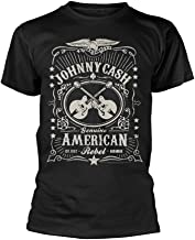 Johnny Cash Unisex-Adult's Official American Rebel T Shirt (Black)