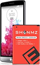 LG G3 Battery Upgraded,SHENMZ 3200mAh G3 Replacement Li-Ion Battery for LG G3 BL-53YH D852, D855, D850(AT&T), D851(T-Mobile), VS985(Verizon), LS990 (Sprint) | LG G3 Spare Battery [24 Month Warranty]