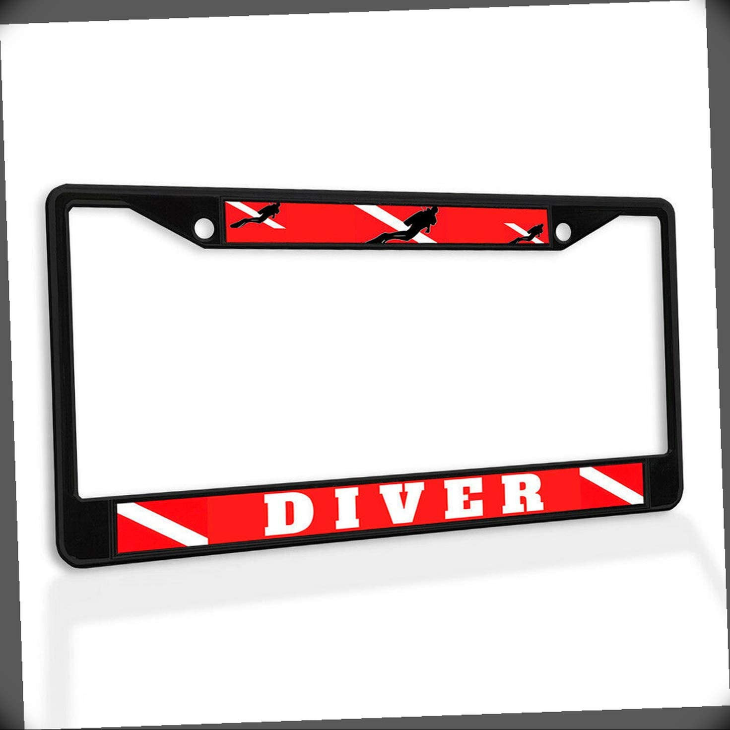 New Ranking TOP15 License Special price for a limited time Plate Frame Scuba Accessories Weatherproof Car Diver