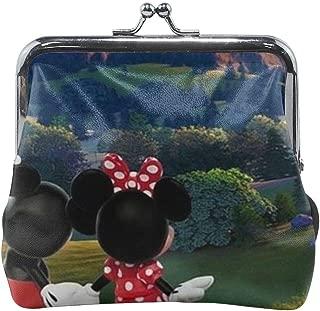 Buckle Coin Purses Hot Air Balloon Mickey And Minnie Pouch Kiss-lock Change Purse Wallets