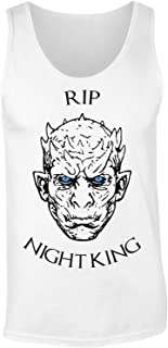Rip Night King Minimal Portrait We Liked to Be Afraid of You and Now You Are Gone Damen Tank Top