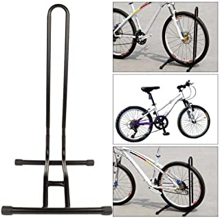 OKJ Bike Floor Stand - Folding Bicycle Rack Storage