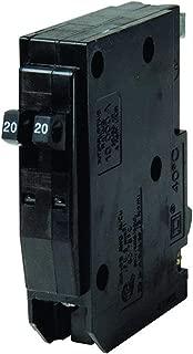 Square D QO 20 amps Tandem Single Pole Circuit Breaker