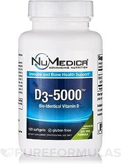 Numedica - D3 5000 Large - Vitamin D3 - 180 softgels