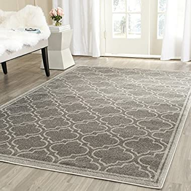 Safavieh Amherst Collection AMT412C Grey and Light Grey Indoor/Outdoor Area Rug (2'6  x 4')