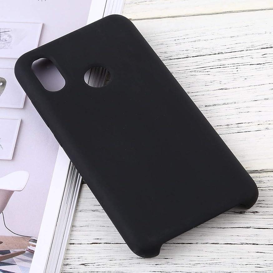 ヒール事故ビジュアル小米科技ミ8ソリッドカラー液状シリコーンDropproof保護ケースのための携帯電話ケース brand:TONWIN (Color : Black)