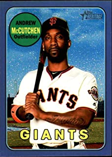 2018 Topps Heritage High Number Chrome Refractors Hot Box Baseball #THC-705 Andrew McCutchen San Francisco Giants Official MLB Trading Card