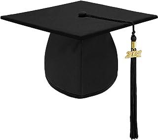 Unisex Adult Matte Graduation Cap Graduation Hat with Tassel Adjustable for High School and College