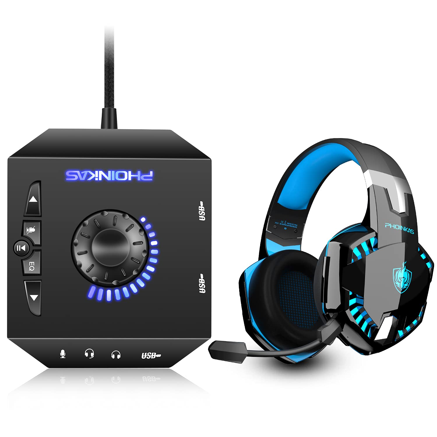 Free shipping New T10 External Some reservation Sound Card G2000 Wired PC Gaming for PS4 Headset