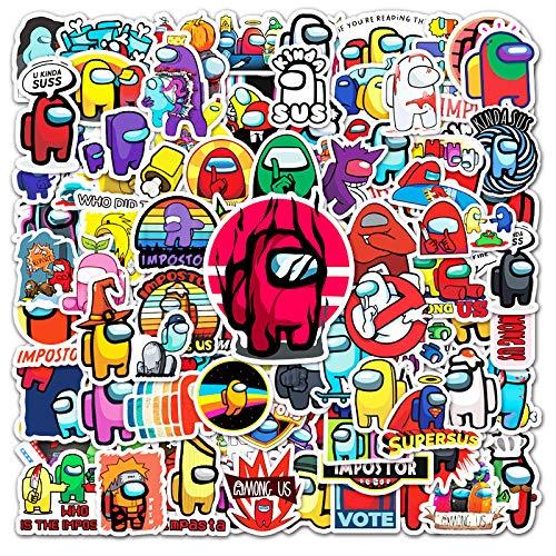 WUWEI Juego de Dibujos Animados Pegatina Decorativa Maleta Tableta Coche teléfono Doodle Pegatina 100 Piezas