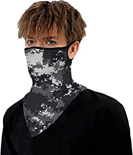 DELFINO Unisex Bandana Half Face Mask Sports Scarf Neck Gaiters Breathable Washable Riding Motorcycle Headwear for Dust Co...
