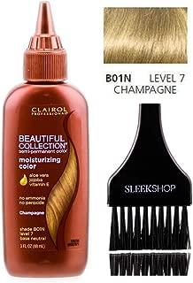 Clairol BEAUTIFUL COLLECTION Moisturizing SEMI-PERMANENT Hair Color (w/Sleek Tint Brush) No Ammonia No Peroxide Haircolor Aloe Vera Jojoba Vitamin E (B01N - Champagne)