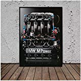 Impresión en HD Home Motor S14 Bmw M3 E30 Mural Art Poster Living Room Wall Art Posters Canvas Prints Decoración del hogar -50x70cm Sin marco