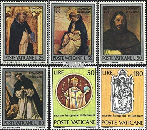 Prophila Collection Vatikanstadt 586-589,594-595 (kompl.Ausg.) 1971 Dominikus, Ungarn (Briefmarken für Sammler) Christentum