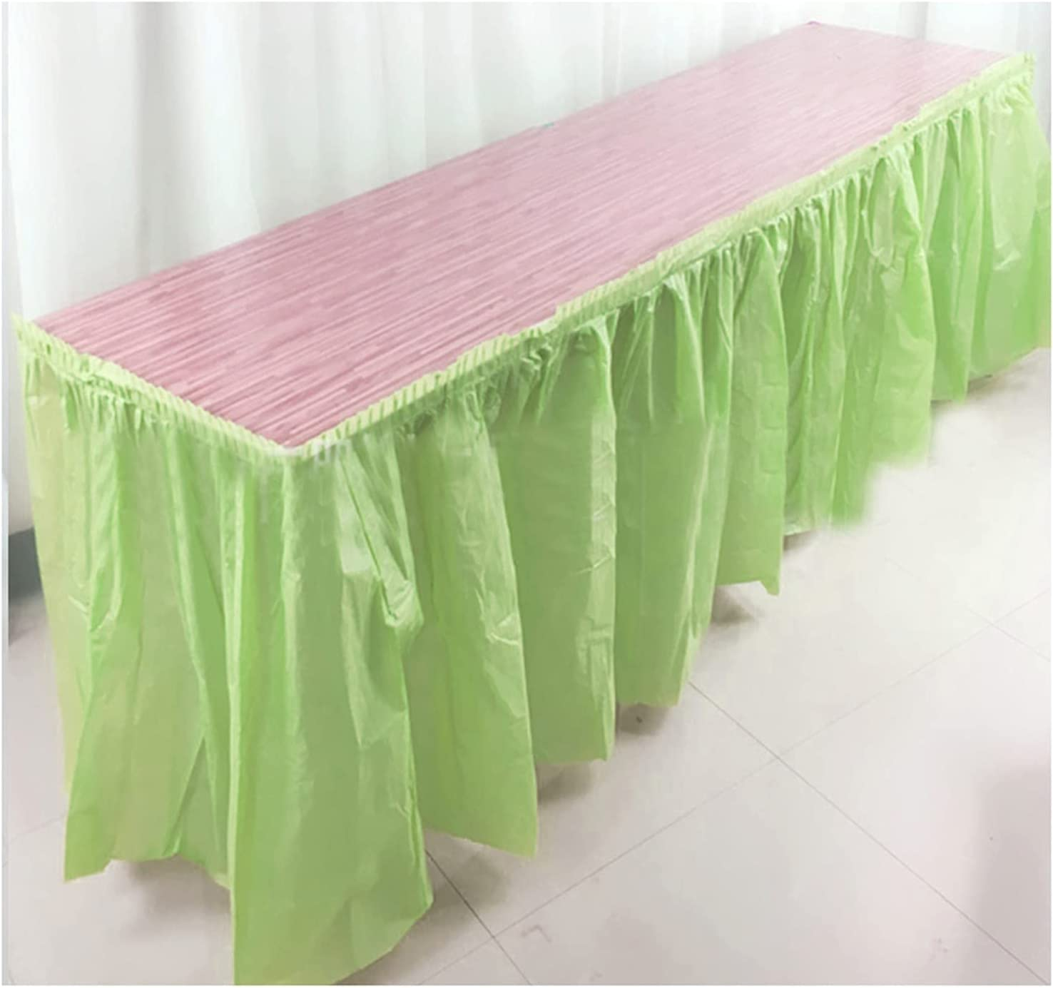Sales of SALE items from new Deluxe works XINLEI 73X420cm Disposable Table Skirts Skirt Cove Plastic