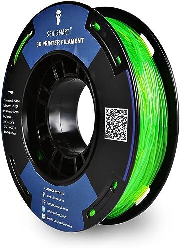 SainSmart - TPU-GRN-0.25KG1.75 SAINSMART 1.75mm 250g Flexible TPU 3D Printing Filament, Dimensional Accuracy +/- 0.05...