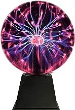 Katzco Plasma Ball - 6 Inch - Nebula, Thunder Lightning, Plug-in - for Parties, Decorations, Prop, Home
