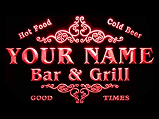ADVPRO u-tm-r Name Personalized Custom Family Bar & Grill Beer Home Bar LED Neon Sign Red 24x16 inches