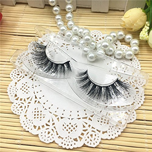 1 Paare Lange 3D Falsche Wimpern Natürliches Aussehen Schwarz Wimpern Erweiterung Makeup Style (1 Schachtel,B)