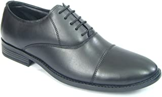 ASM Pure Leather Oxford Shoes with PU Sole, Leather Insole, Fully Leather Lining and Memory Foam for Optimum Comfort for Men