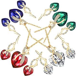 Ogquaton Jewellry Set Retro Ethnique Hibou Pendentif Collier Boucles doreilles Set Cadeau pour Les Filles Durable et utile