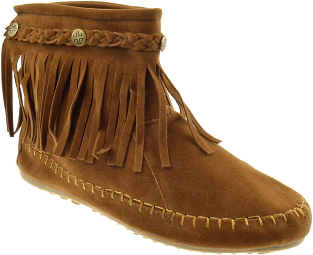 Lucita TG 01 Fringe Moccasin Ankle Boots