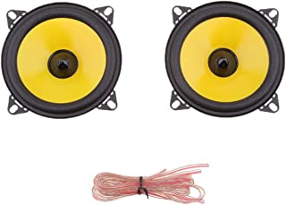 Flameer 2 Pieces Replacement Coaxial Car Automotive Audio Speaker 4'' 80W 2-Way