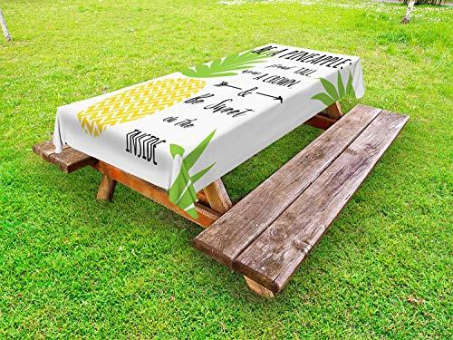 ABAKUHAUS Decir Beach Funda Nórdica, Ser una Frase piña, Estampado Tela de Poliéster Práctico Durable, 145 cm x 305 cm, Multicolor