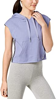 Calvin Klein Performance Womens Hooded Cropped Pullover Top Purple M