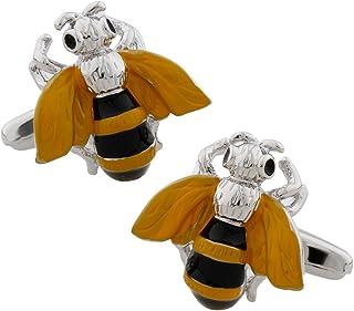 MRCUFF Bumblebee Honey Bee Pair Cufflinks in a Presentation Gift Box & Polishing Cloth